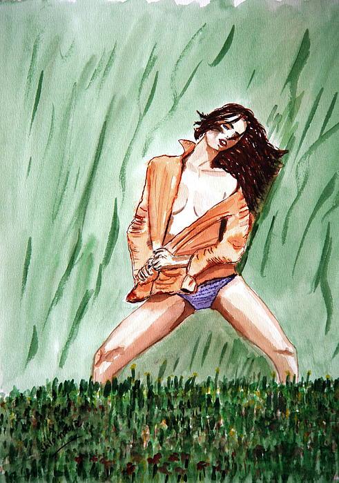 Nature Passion Print by Shlomo Zangilevitch
