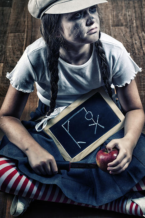 Naughty School Girl Print by Joana Kruse