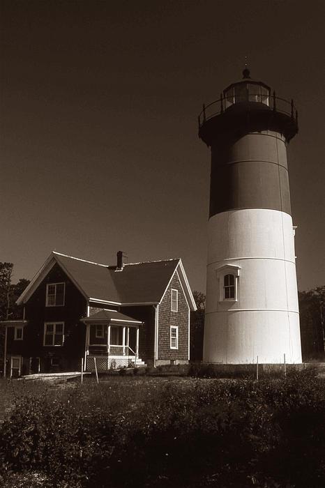 Nauset Lighthouse Print by Skip Willits