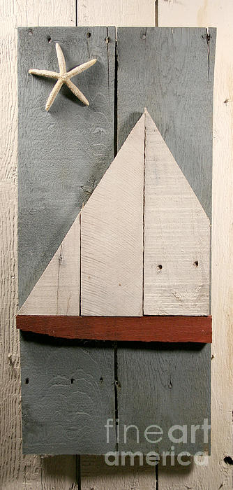 Nautical Wood Art 01 Print by John Turek
