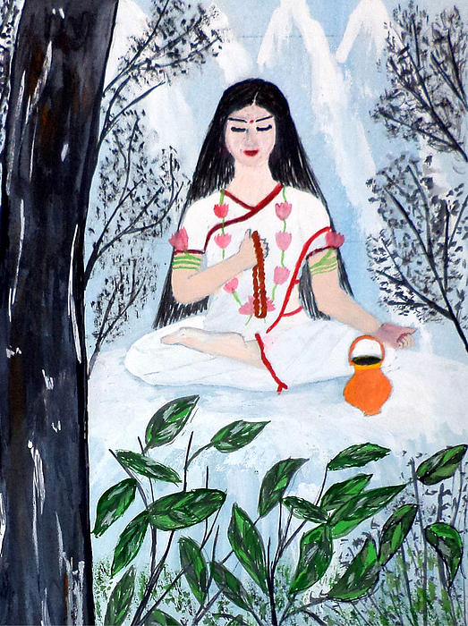 Nava Durga Brahmacharini Print by Pratyasha Nithin