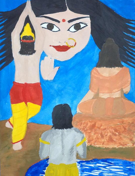 Nava Durga Siddhidaatri Print by Pratyasha Nithin