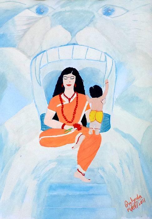 Nava Durga Skandmata Print by Pratyasha Nithin