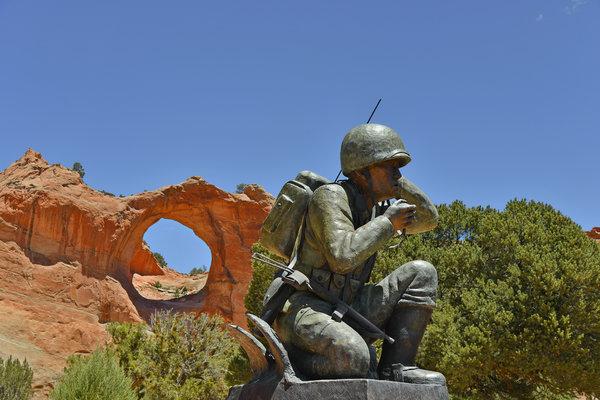 Navajo Code Talker - Window Rock Az Print by Christine Till