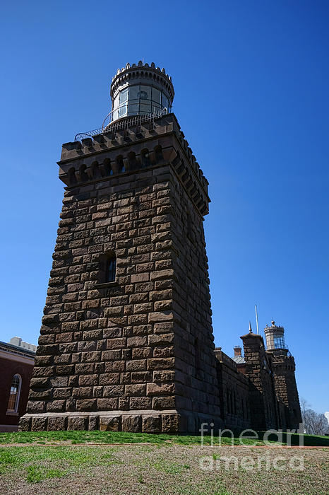 Navesink Twin Lights Print by Olivier Le Queinec