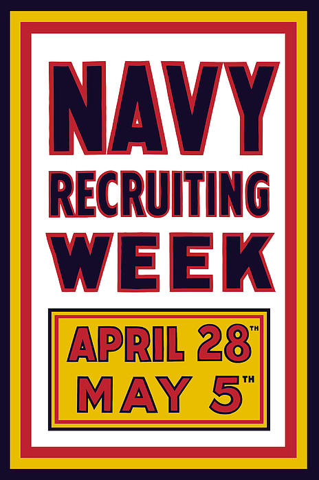 Navy Recruiting Week  Print by War Is Hell Store