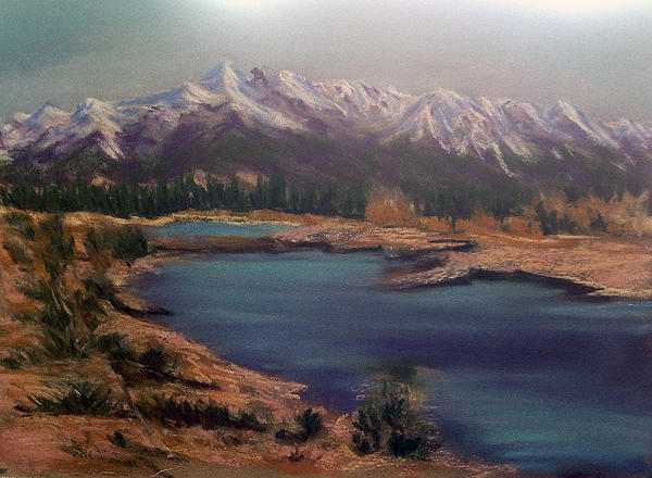 Near Jasper Alberta Print by Fiona Graham