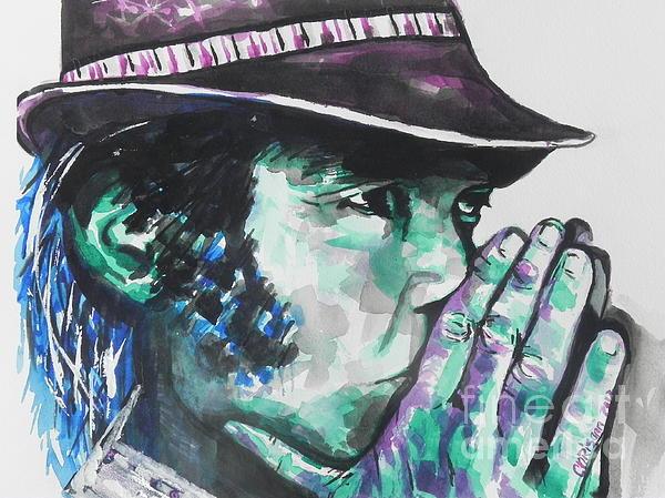 Neil Young Print by Chrisann Ellis