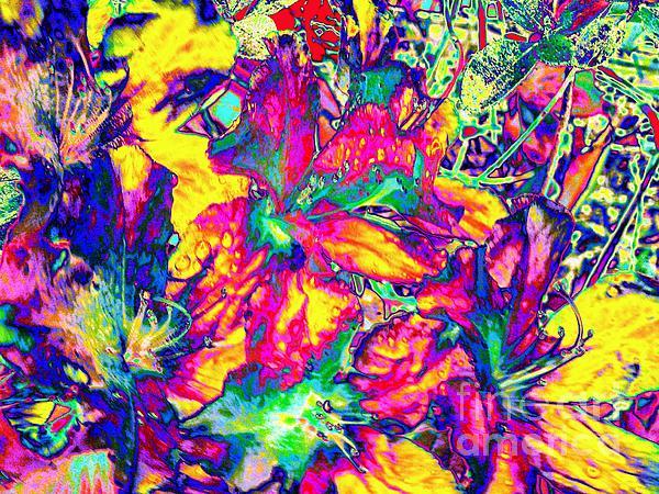 Neon Garden-neon Series Print by Rhonda Lee