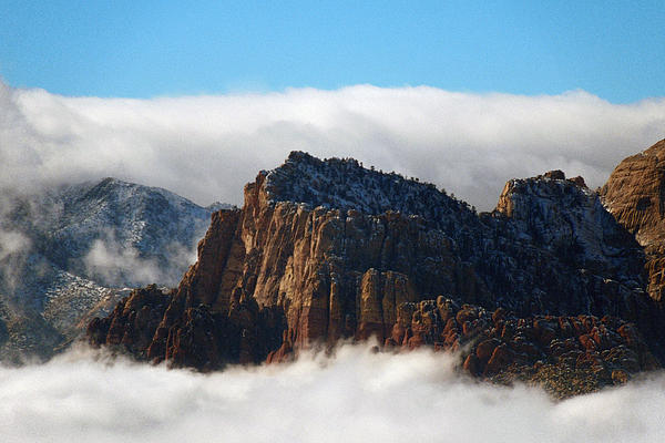 Nestled In The Clouds Print by Alan Socolik