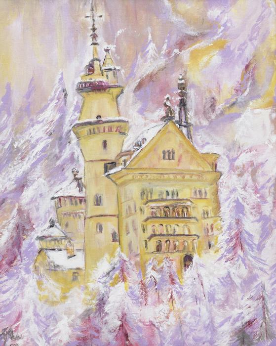Neuschwanstein Castle Print by Helena Bebirian