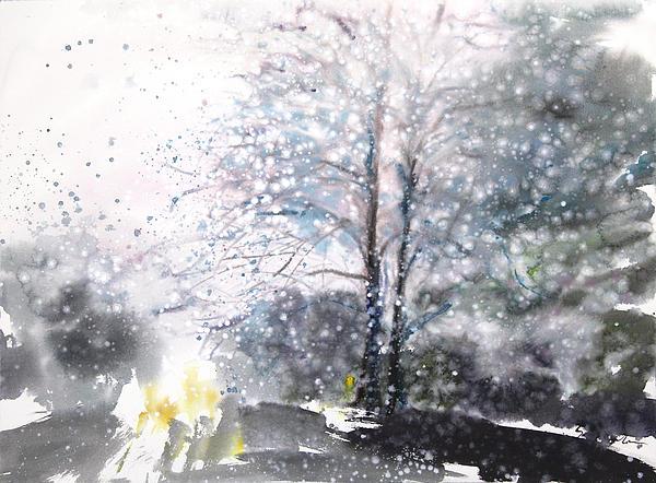New England Landscape No.222 Print by Sumiyo Toribe