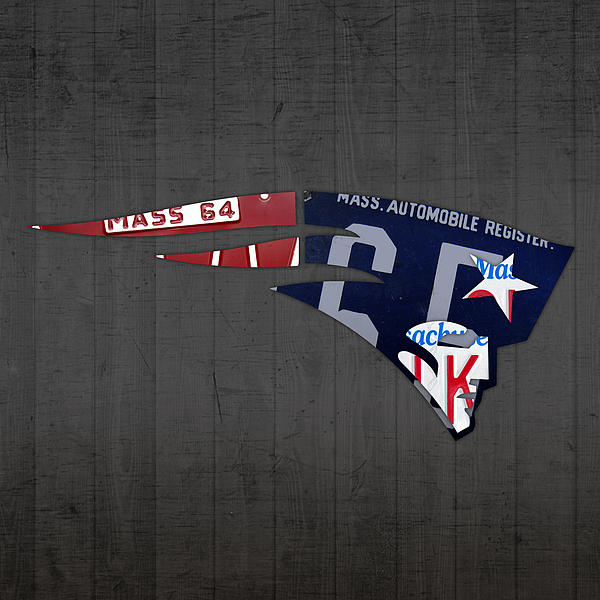 New England Patriots Football Team Retro Logo Massachusetts License ...