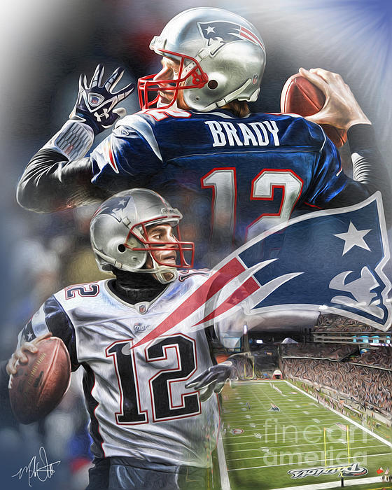 New England Patriots Print by Mike Oulton