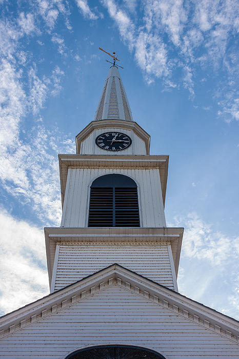 New Hampshire Steeple Detailed View Print by Karen Stephenson