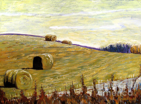 New Haybales Print by Charlie Spear