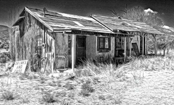 New Mexico Haunted Shack Print by Gregory Dyer