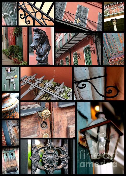 New Orleans Collage 2 Print by Carol Groenen