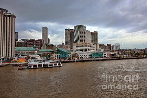 New Orleans Riverfront Print by Kay Pickens