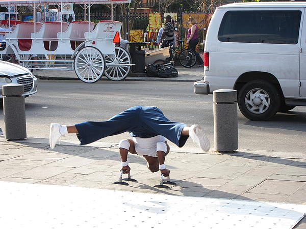 New Orleans - Street Performers - 121210 Print by DC Photographer