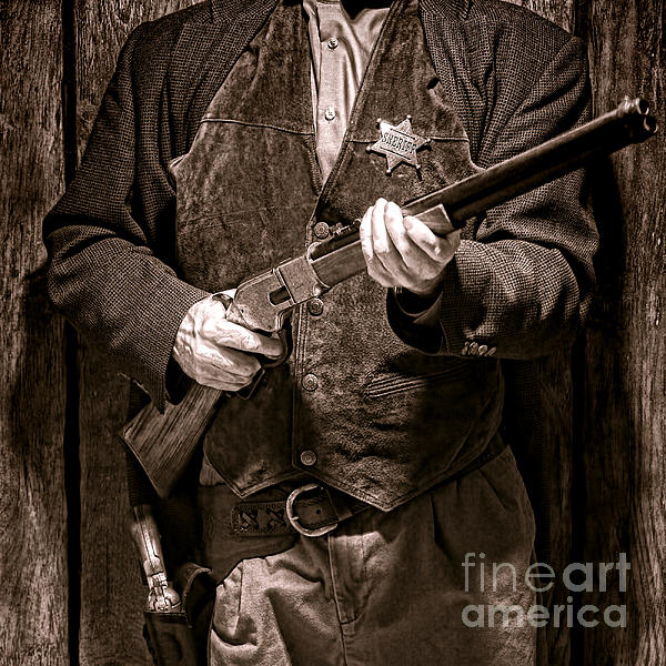 New Sheriff In Town  Print by Olivier Le Queinec