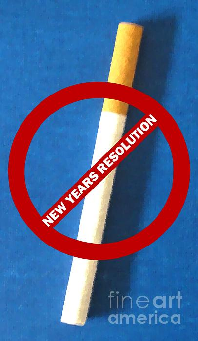 New Years Resolution Print by Margaret Newcomb