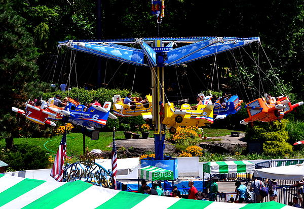 New York Central Park Victorian Gardens At Wollman Rink Family Amusement Park By Julie Vega