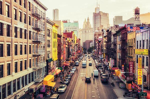 New York City - Chinatown Street Print by Vivienne Gucwa