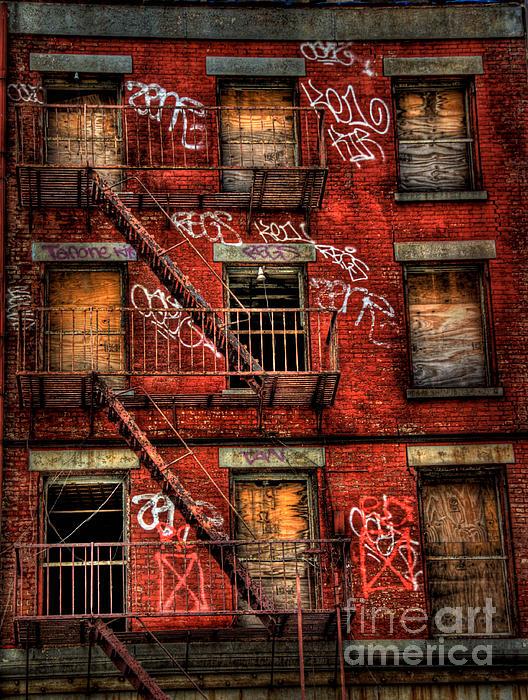 New York City Graffiti Building Print by Amy Cicconi