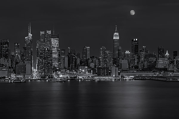 New York City Night Lights Print by Susan Candelario