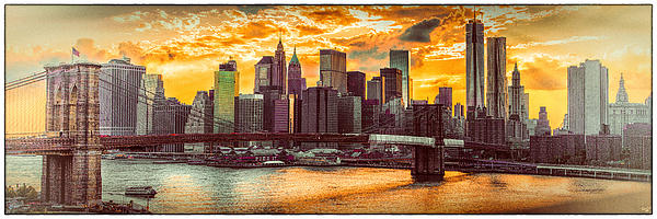 New York City Summer Panorama Print by Chris Lord