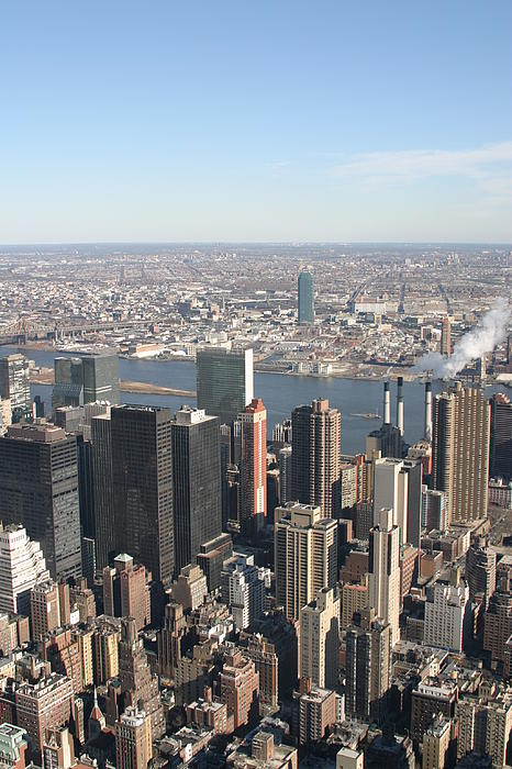 New York City - View From Empire State Building - 121218 Print by DC Photographer
