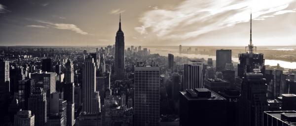 New York Print by Dave Bowman