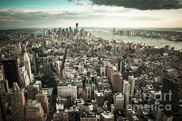 New York From Above - Vintage Print by Hannes Cmarits