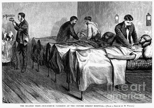 New York: Heatstroke, 1876 Print by Granger