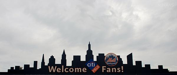 New York Mets Skyline Print by Rob Hans