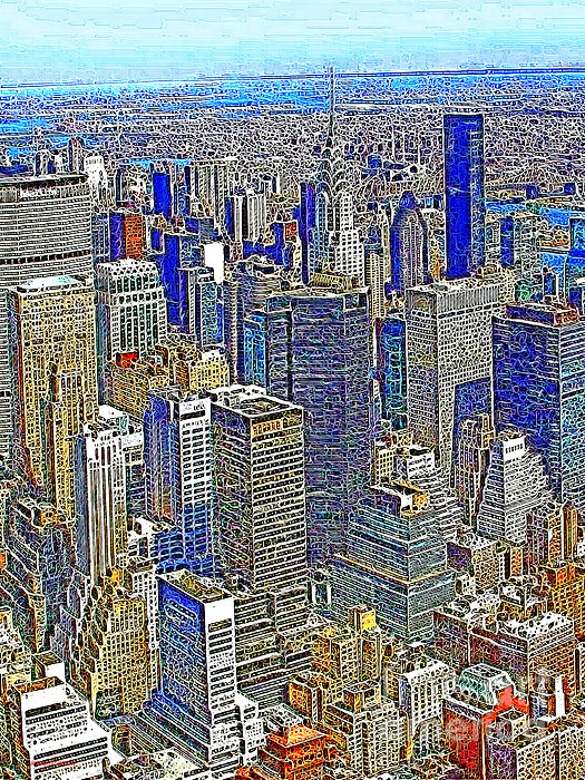 New York Skyline 20130430v2 Print by Wingsdomain Art and Photography