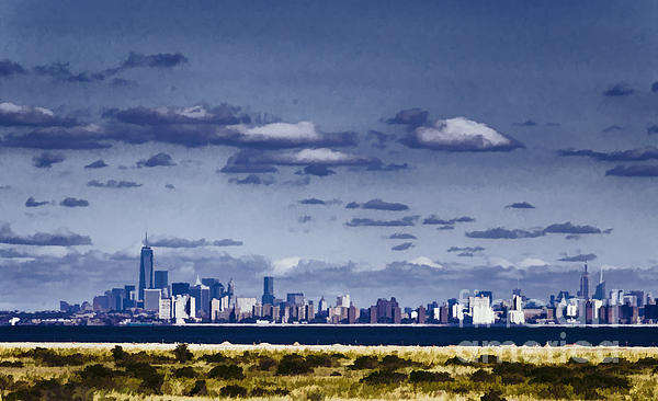 Joan Carroll - New York Skyline from Sandy Hook