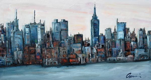 New York Skyline Print by Michael  Accorsi