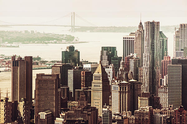 New York Skyline Print by Vivienne Gucwa