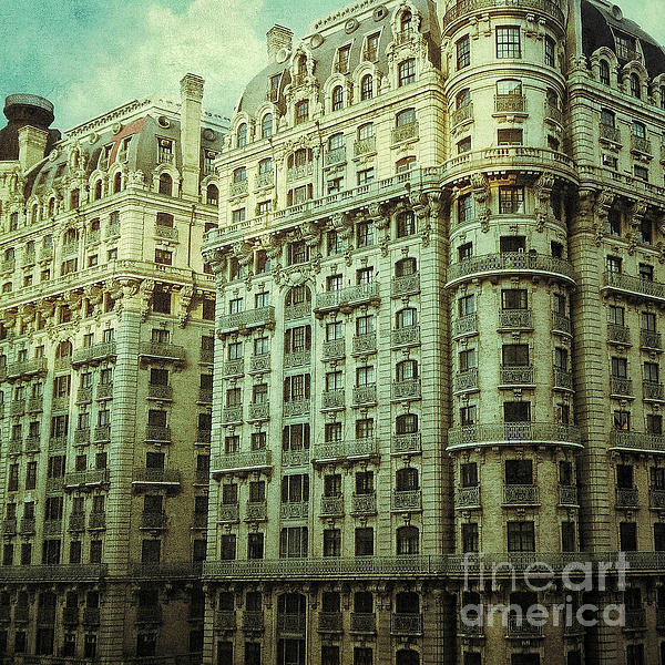 New York Upper West Side Apartment Building Print by Amy Cicconi