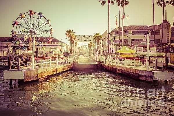 Newport Beach Balboa Island Ferry Dock Photo Print by Paul Velgos