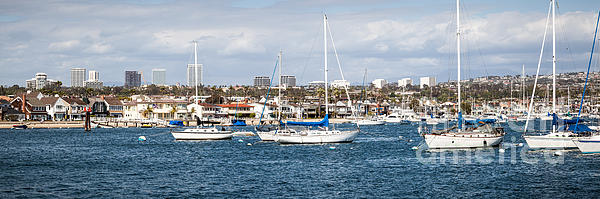 Newport Beach Panorama Print by Paul Velgos
