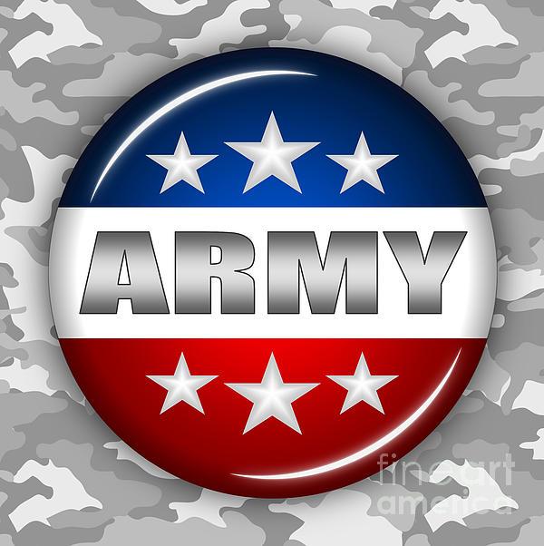 Nice Army Shield 2 Print by Pamela Johnson
