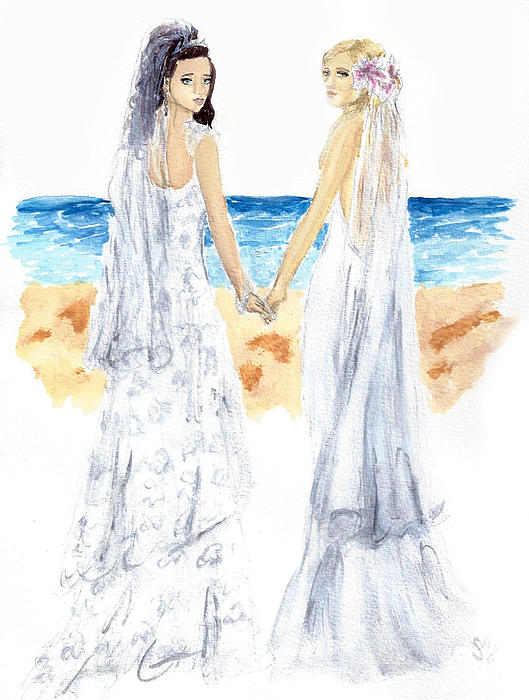 Nice Day For A White Wedding Print by Sabina Mollot