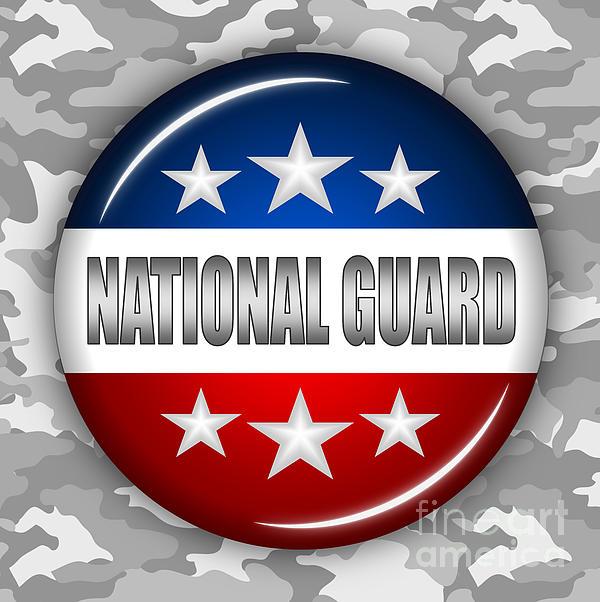 Nice National Guard Shield 2 Print by Pamela Johnson
