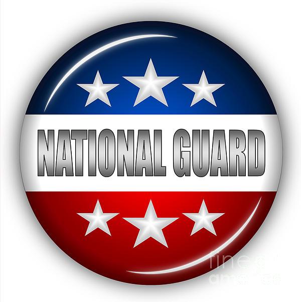 Nice National Guard Shield Print by Pamela Johnson
