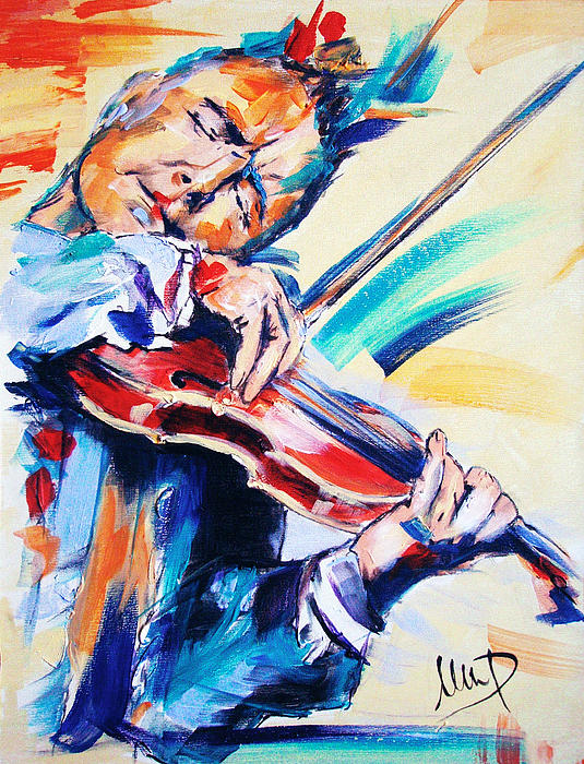 Nigel Kennedy Print by Melanie D