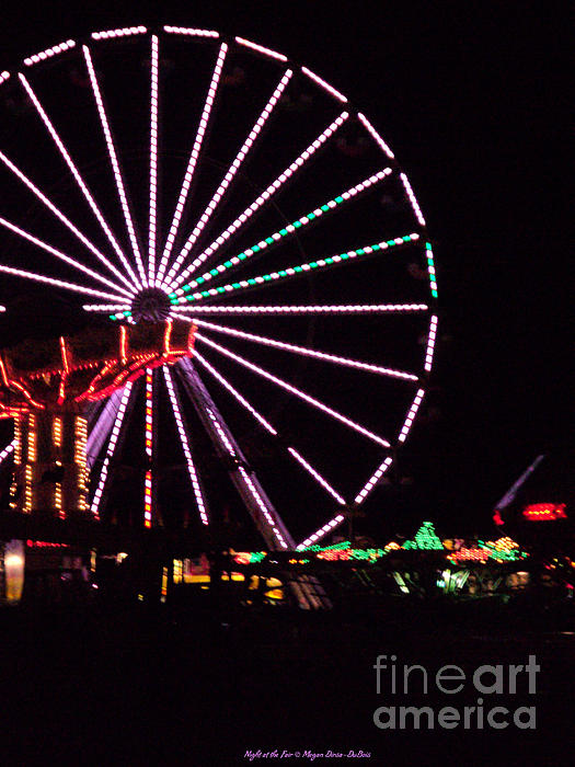 Night At The Fair Print by Megan Dirsa-DuBois