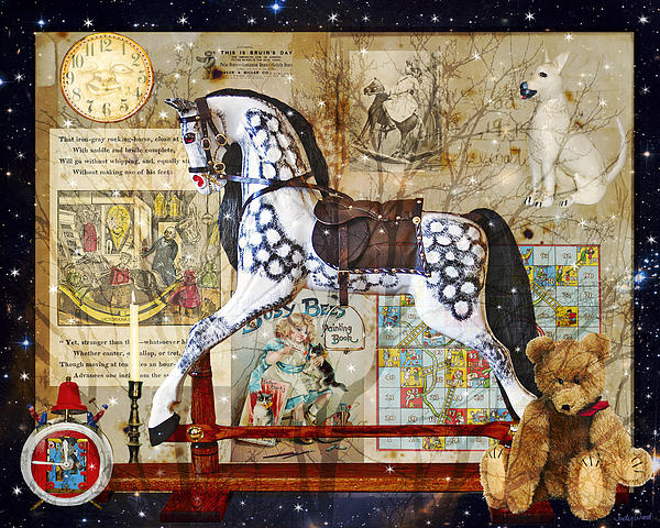 Night Nursery Print by Judy Wood